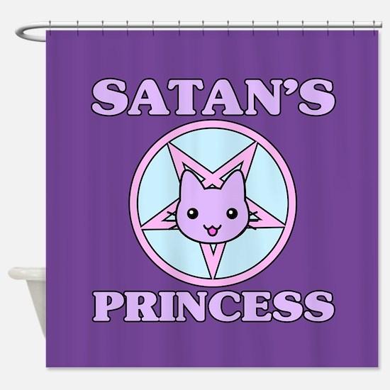 Satan's Princess Cute Shower Curtain