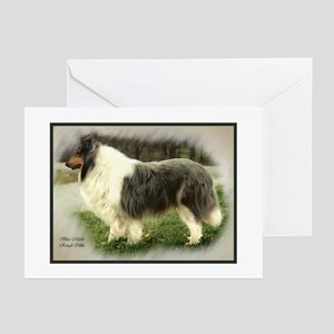 collie chance card border Greeting Cards