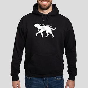 Irish Wolfhound Heart Shirt Hoodie (dark)