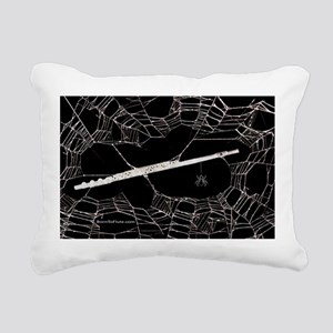 Spider Web Flute Rectangular Canvas Pillow