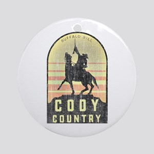 Vintage Cody Country Round Ornament