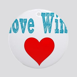 Love Wins Round Ornament