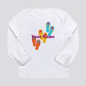 Personalized Flip Flops Long Sleeve T-Shirt