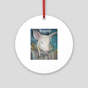 Anti Trump, pig Round Ornament