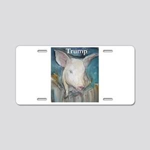 Anti Trump, pig Aluminum License Plate