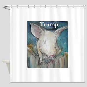 Anti Trump, pig Shower Curtain