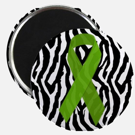 Kidney Ribbon Zebra Print Magnets