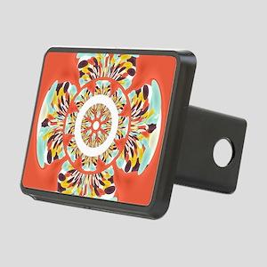 Colorful mandala Rectangular Hitch Cover