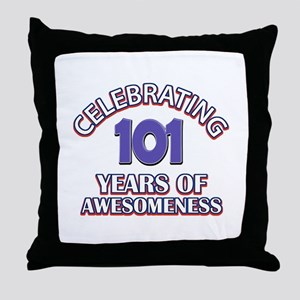 Celebrating 101 Years Throw Pillow