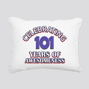 Celebrating 101 Years Rectangular Canvas Pillow