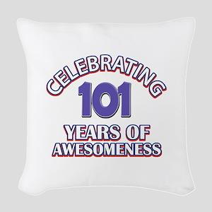 Celebrating 101 Years Woven Throw Pillow