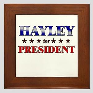 HAYLEY for president Framed Tile