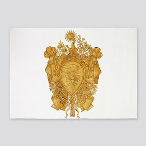 Golden Arms of the Chevalier d'Orlé 5'x7'Area Rug