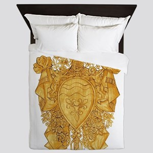 Golden Arms of the Chevalier d'Orléans Queen Duvet