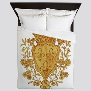 Royal Arms of France in Or Queen Duvet