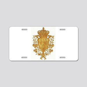 Royal Arms of France in Or Aluminum License Plate