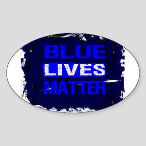 BLUE LIVES MATTER BLUE AND BLUE Sticker