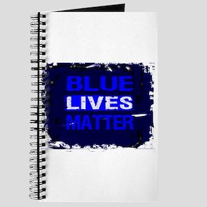 BLUE LIVES MATTER BLUE AND BLUE Journal