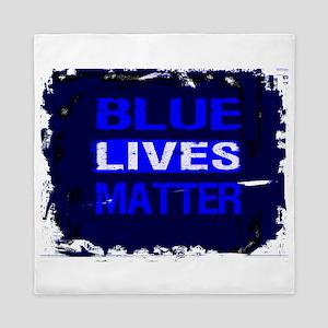 BLUE LIVES MATTER BLUE AND BLUE Queen Duvet