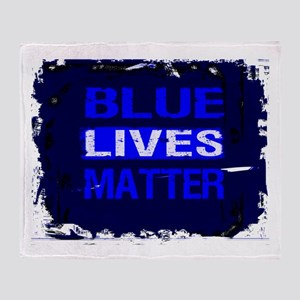 BLUE LIVES MATTER BLUE AND BLUE Throw Blanket