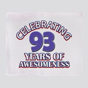 Celebrating 93 Years Throw Blanket