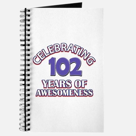 Celebrating 102 Years Journal