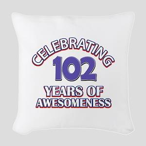 Celebrating 102 Years Woven Throw Pillow