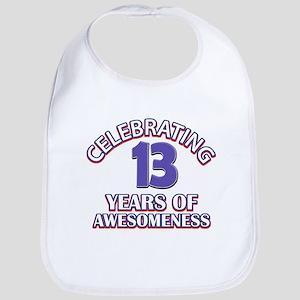 Celebrating 13 Years Bib