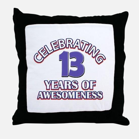 Celebrating 13 Years Throw Pillow