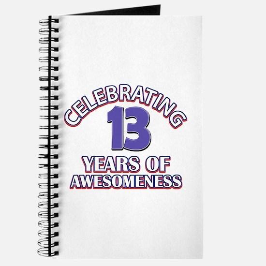 Celebrating 13 Years Journal