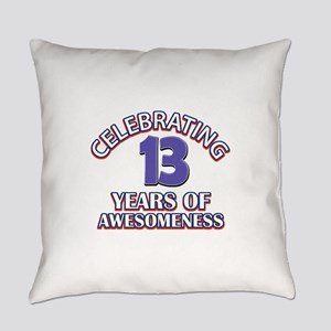 Celebrating 13 Years Everyday Pillow