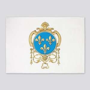 Royal Arms of France 5'x7'Area Rug