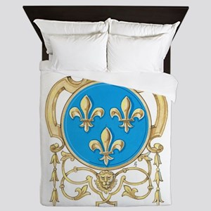 Royal Arms of France Queen Duvet