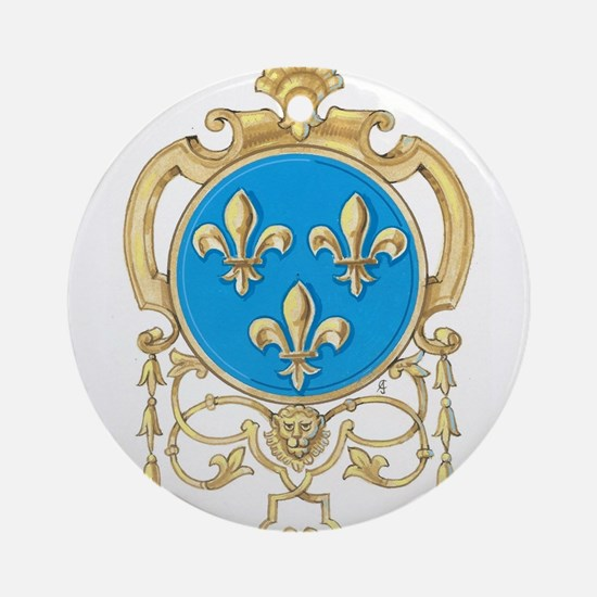Royal Arms of France Round Ornament
