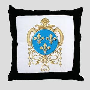 Royal Arms of France Throw Pillow