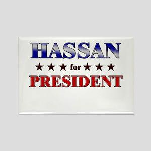 HASSAN for president Rectangle Magnet