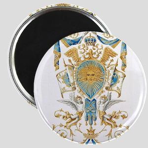 Badge of King Louis XIV Magnets
