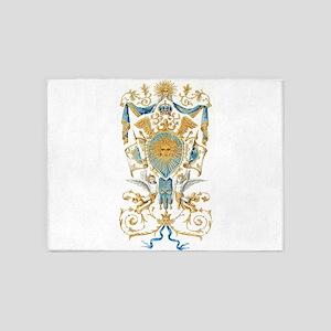 Badge of King Louis XIV 5'x7'Area Rug