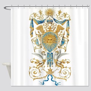 Badge Of King Louis XIV Shower Curtain