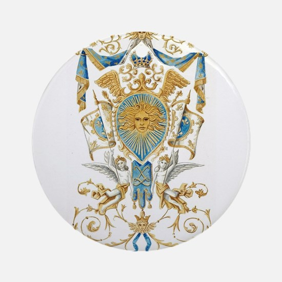 Badge of King Louis XIV Round Ornament