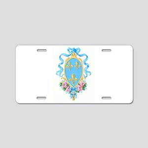 French Neoclassical Arms Aluminum License Plate
