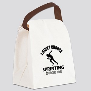 I Didn't Choose Sprinting Canvas Lunch Bag