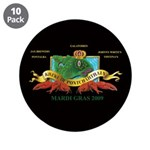 """Krewe of Ponchartrain L 3.5"""" Button (10 pack)"""