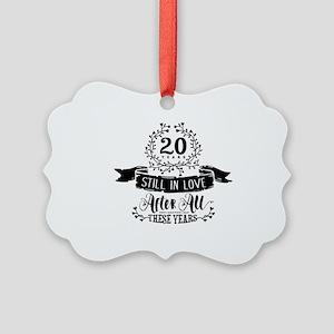 20th Anniversary Picture Ornament