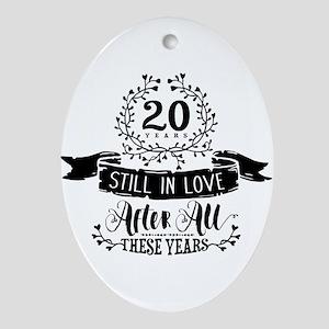 20th Anniversary Oval Ornament