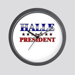 HALLE for president Wall Clock