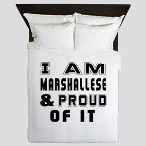 I Am Marshallese And Proud Of It Queen Duvet