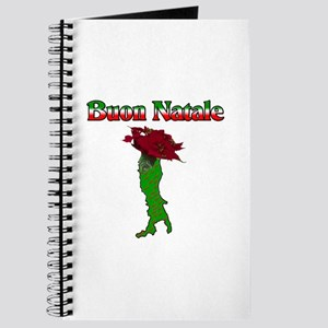 Buon Natale Italian Christmas Boot Journal