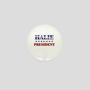 HALIE for president Mini Button