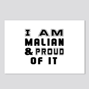 I Am Malian And Proud Of Postcards (Package of 8)